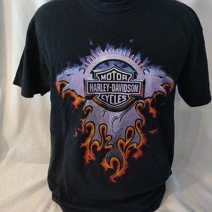 Harley Davidson black Tigard Oregon t-shirt. Large